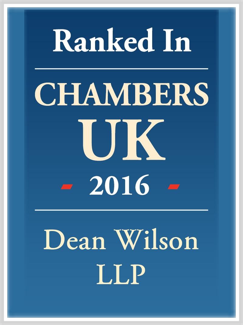 Chambers UK 2016 - Dean Wilson LLP